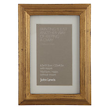 "Buy John Lewis Florence Wooden Photo Frame, 4 x 6"" (10 x 15cm) Online at johnlewis.com"
