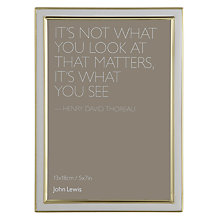 "Buy John Lewis Emma Photo Frame, 5 x 7"" (13 x 18cm) Online at johnlewis.com"