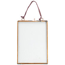 "Buy Nkuku Kiko Glass and Copper Portrait Picture Frame, 5"" x 7"" Online at johnlewis.com"