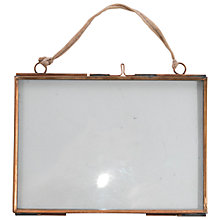 "Buy Nkuku Kiko Glass and Copper Landscape Picture Frame, 5"" x 7"" Online at johnlewis.com"