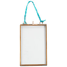 "Buy Nkuku Kiko Glass and Copper Portrait Picture Frame, 4"" x 6"" Online at johnlewis.com"