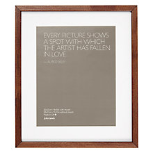 "Buy John Lewis Dark Wood Photo Frame, 8 x 10"" (20 x 25cm) Online at johnlewis.com"