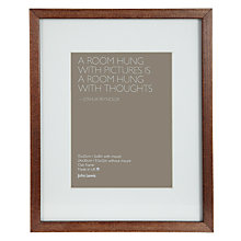 "Buy John Lewis Dark Wood Box Frame with Mount, 6"" x 8"" (15 x 21cm) Online at johnlewis.com"