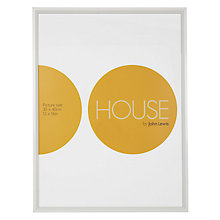 "Buy House by John Lewis White Aluminium Photo Frame, 12 x 16"" (30 x 40cm) Online at johnlewis.com"