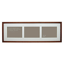"Buy John Lewis 3 Aperture Dark Wood Frame and Mount, 5"" x 7"" (13 x 18cm) Online at johnlewis.com"