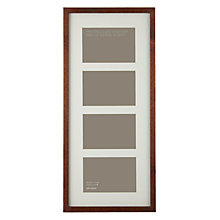 "Buy John Lewis 4 Aperture Dark Wood Frame and Mount 4"" x 6"" (10 x 15cm) Online at johnlewis.com"