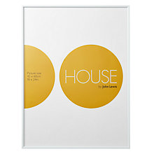 "Buy House by John Lewis White Aluminium Photo Frame, 18 x 24"" (45 x 60cm) Online at johnlewis.com"