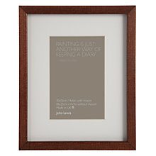 "Buy John Lewis Dark Wood Photo Frame, 4 x 6"" (10 x 15cm) Online at johnlewis.com"