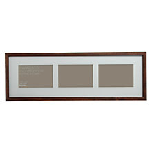 "Buy John Lewis 3 Aperture Dark Wood Frame and Mount 4"" x 6"" (10 x 15cm) Online at johnlewis.com"