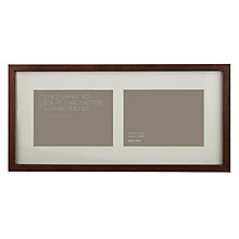 "Buy John Lewis 2 Aperture Dark Wood Photo Frame, 5"" x 7"" (13 x 18cm) Online at johnlewis.com"