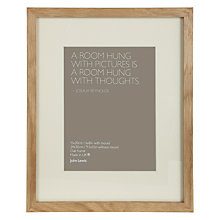"Buy John Lewis Box Frame and Mount, Oak,  6"" x 8"" (15 x 20cm) Online at johnlewis.com"