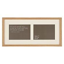 "Buy John Lewis 2 Aperture Frame and Mount, Oak, 5"" x 7"" (13 x 18cm) Online at johnlewis.com"