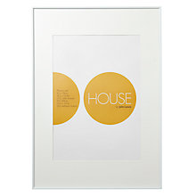 Buy House by John Lewis White Aluminium Photo Frame, A1 with A2 Mount Online at johnlewis.com