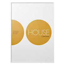 "Buy House by John Lewis White Aluminium Photo Frame, 20 x 27"" (50 x 70cm) Online at johnlewis.com"