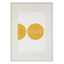 Buy House by John Lewis White Aluminium Photo Frame, A3 with A4 Mount Online at johnlewis.com