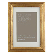 "Buy John Lewis Florence Wooden Frame, 5 x 7"" (13 x 18cm) Online at johnlewis.com"
