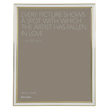 "Buy John Lewis Emma Photo Frame, 8 x 10"" (20 x 25cm) Online at johnlewis.com"