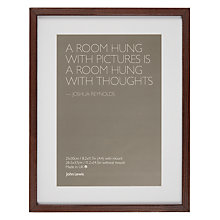 Buy John Lewis Dark Wood Frame and Mount, A4 (21 x 30cm) Online at johnlewis.com