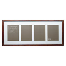 "Buy John Lewis 4 Aperture Dark Wood Frame and Mount 5"" x 7"" (13 x 18cm) Online at johnlewis.com"