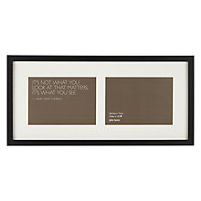 "Buy John Lewis Box 2 Aperture Photo Frame, Black, 5"" x 7"" (13 x 18cm) Online at johnlewis.com"