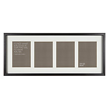 "Buy John Lewis Box 4 Aperture Photo Frame, Black, 5"" x 7"" (13 x 18cm) Online at johnlewis.com"