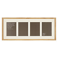 "Buy John Lewis 4 Aperture Frame and Mount, 5"" x 7"" (13 x 18cm) Online at johnlewis.com"