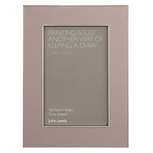 "Buy John Lewis Amy Photo Frame, 4 x 6"" (10 x 15cm), Dusky Heather Online at johnlewis.com"
