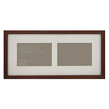 "Buy John Lewis 2 Aperture Dark Wood Frame and Mount 4"" x 6""  (10 x 15cm) Online at johnlewis.com"