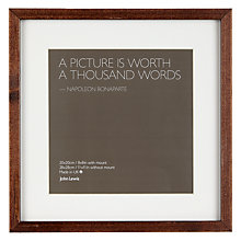 "Buy John Lewis Dark Wood Photo Frame, 8 x 8"" (20 x 20cm) Online at johnlewis.com"