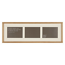 "Buy John Lewis 3 Aperture Frame and Mount, Oak, 5"" x 7"" (13 x 18cm) Online at johnlewis.com"