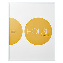 "Buy House by John Lewis White Aluminium Picture Frame, 16 x 20"" (40 x 50cm) Online at johnlewis.com"