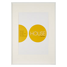 Buy John Lewis Aluminium Frame, White, A2 with A3 Mount Online at johnlewis.com