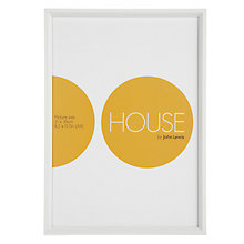 Buy House by John Lewis White Aluminium Picture Frame, A4, (21 x 30cm) Online at johnlewis.com