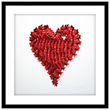 Buy Daisy Maison - Butterfly Heart Red Framed Wall Art, 62 x 62cm Online at johnlewis.com