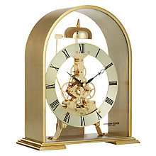 Buy London Clock Company Arch Skeleton Mantel Clock, Gold Online at johnlewis.com
