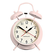 Buy Newgate Covent Garden Twinbell Piglet Clock, Pink Online at johnlewis.com