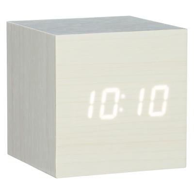 Image of Gingko Click Clock Cube LED Alarm Clock