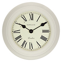 Buy Newgate Gallery Wall Clock, Grey Online at johnlewis.com