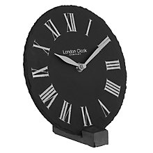 Buy LC Designs Slate Mantle Clock Online at johnlewis.com
