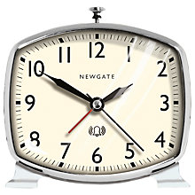 Buy Newgate Toledo Doorstep Alarm Clock, Grey Online at johnlewis.com