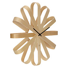Buy Umbra Ribbon Wood Wall Clock Online at johnlewis.com