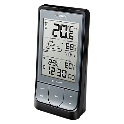 Image of Oregon Scientific Bluetooth Weather Station BAR218, Black/Silver