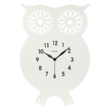 Buy Diamantini & Domeniconi Owl Clock, White Online at johnlewis.com