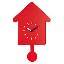 Buy House by John Lewis Clock, Red Online at johnlewis.com