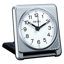 Buy Seiko Clam Travel Alarm Clock, Silver Online at johnlewis.com