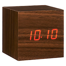 Buy Click Clock Cube LED Alarm Clock Online at johnlewis.com