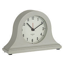 Buy John Lewis Croft Mini Mantel Clock, Grey Online at johnlewis.com