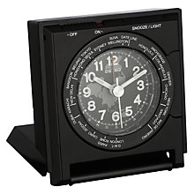 Buy Seiko World Time Clock, Black Online at johnlewis.com