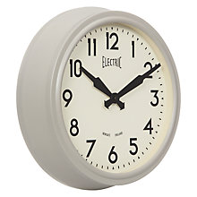 Buy Newgate 50's Electric Wall Clock, Grey Online at johnlewis.com