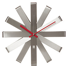 Buy Umbra Ribbon Metal Clock Online at johnlewis.com